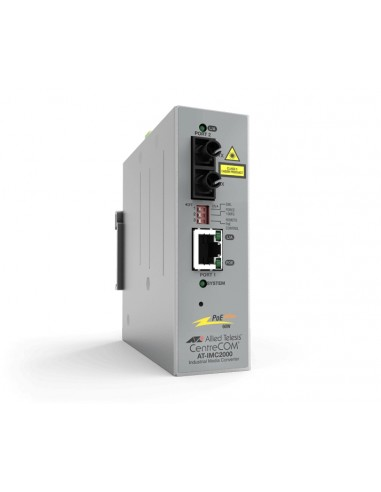 Allied Telesis AT-IMC2000TP/SC-980 mediakonverterare för nätverk 1000 Mbit/s 850 nm Flerläge Grå Allied Telesis AT-IMC2000TP/SC-