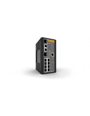Allied Telesis AT-IS230-10GP-80 hanterad L2 Gigabit Ethernet (10/100/1000) Strömförsörjning via (PoE) stöd Svart Allied Telesis