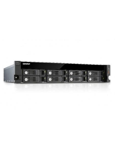 QNAP UX-800U-RP levyjärjestelmä Musta Qnap UX-800U-RP - 7