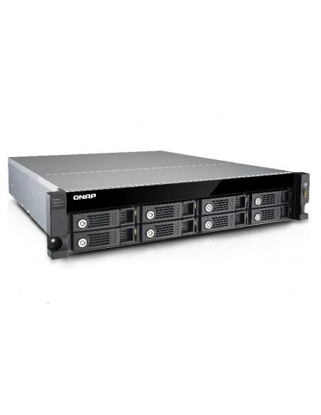 QNAP UX-800U-RP levyjärjestelmä Musta Qnap UX-800U-RP - 9