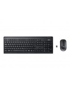 Fujitsu LX410 näppäimistö Langaton RF QWERTY Pohjoismainen Musta Fujitsu Technology Solutions S26381-K410-L454 - 1