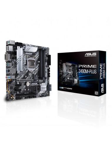 ASUS PRIME Z490M-PLUS Intel Z490 LGA 1200 micro ATX Asus 90MB12W0-M0EAY0 - 1