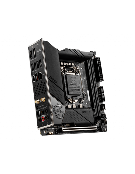 MSI MEG Z490I UNIFY 'Mini-ITX, LGA1200, DDR4, 802.11ax WiFi 6 + Bluetooth 5.1, USB 3.2 Gen2, Type C, M.2 Msi MPG Z490I UNIFY - 3