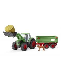 Schleich Farm Life Tractor with trailer Schleich 42379 - 1