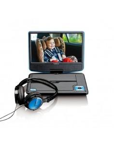 "Lenco DVP-910 Kannettava DVD-soitin Muunneltava Musta, Sininen 22.9 cm (9"") Lenco DVP910BLAU - 1"