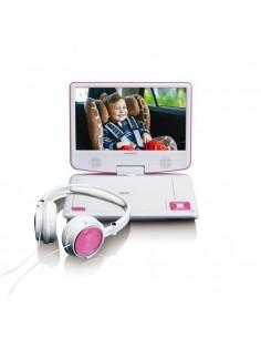 """Lenco DVP-910 Kannettava DVD-soitin Muunneltava Musta, Vaaleanpunainen 22.9 cm (9"""") Lenco DVP910PINK - 1"""