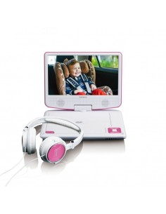 """Lenco DVP-910 Kannettava DVD-soitin Muunneltava Musta, Vaaleanpunainen 22,9 cm (9"""") Lenco DVP910PINK - 1"""