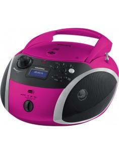Grundig GRB 4000 BT Digitaalinen 3 W Musta, Vaaleanpunainen, Hopea Grundig GPR1160 - 1