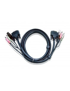 Aten 6ft USB DVI-D Single Link KVM-kaapeli 1.8 m Musta Aten 2L-7D02U - 1