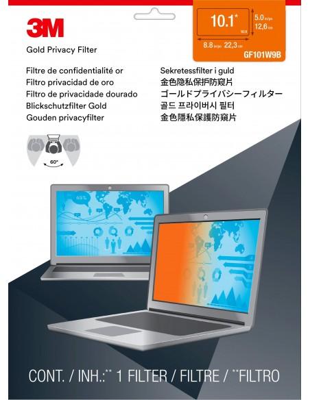 """3M 7000014548 sekretessfilter för skärmar Privatfilter ramlösa datorskärmar 25.6 cm (10.1"""") 3m 7000014548 - 2"""