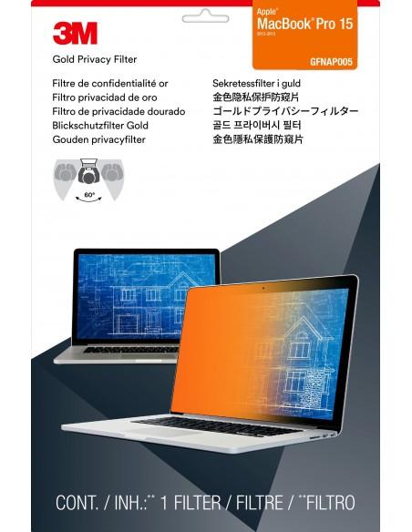 3M Guld sekretessfilter till Apple® MacBook Pro® 15 tum med Retina-display 3m 7000059572 - 2