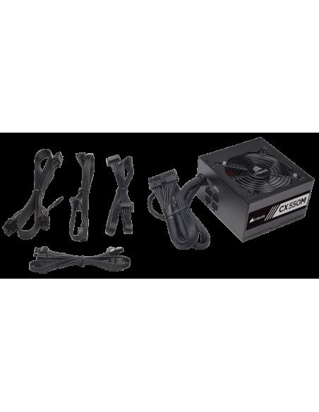 Corsair CX550M virtalähdeyksikkö 550 W 20+4 pin ATX Musta Corsair CP-9020102-EU - 4