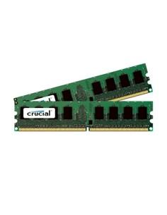 Crucial 4GB DDR2 muistimoduuli 2 x GB 800 MHz ECC Crucial Technology CT2KIT25672AA80EA - 1