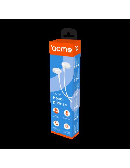 ACME HE22W kuulokkeet ja kuulokemikrofoni In-ear Valkoinen Acme Europe 253126 WHITE - 5