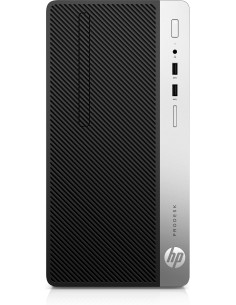 HP ProDesk 400 G6 9500 Micro Tower 9:e generationens Intel® Core™ i5 8 GB DDR4-SDRAM 256 SSD Windows 10 Pro PC Svart Hp 7EM13EA#