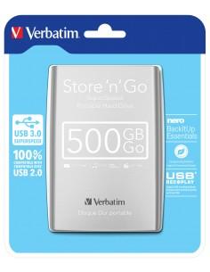Verbatim Store 'n' Go ulkoinen kovalevy 500 GB Hopea Verbatim 53021 - 1