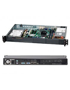 Supermicro CSE-502L-200B server barebone Rack (1U) Black Supermicro CSE-502L-200B - 1