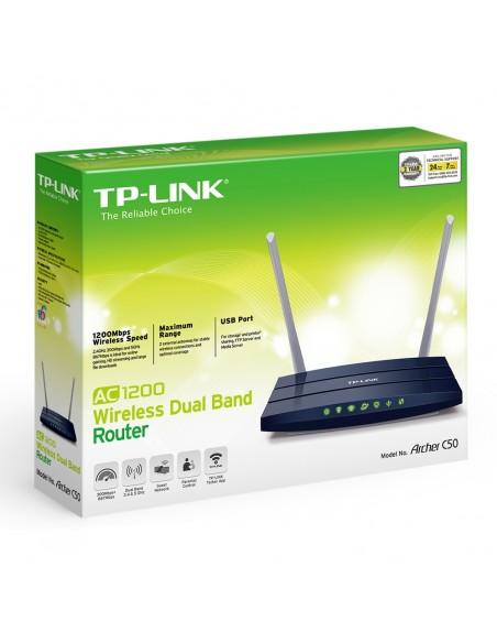 TP-LINK Archer C50 V1 langaton reititin Kaksitaajuus (2,4 GHz/5 GHz) Nopea Ethernet Musta Tp-link ARCHER C50 - 4