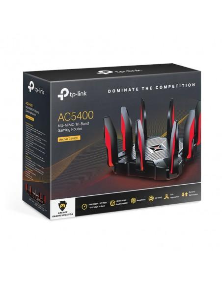 TP-LINK Archer C5400X langaton reititin Kolmikaista (2,4 GHz/5 GHz) Gigabitti Ethernet Musta, Punainen Tp-link ARCHER C5400X - 4