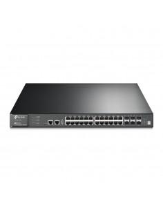 TP-LINK T3700G-28TQ verkkokytkin Hallittu L3 Gigabit Ethernet (10/100/1000) Musta 1U Tp-link T3700G-28TQ - 1
