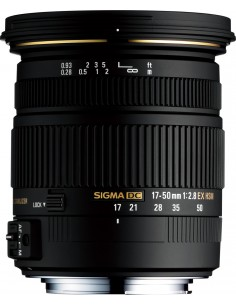 Sigma 17-50mm F2.8 EX DC OS HSM Musta Sigma 58C962 - 1