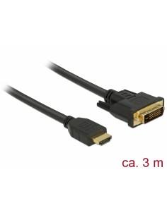 DeLOCK 85655 videokaapeli-adapteri 3 m HDMI-tyyppi A (vakio) DVI Musta Delock 85655 - 1