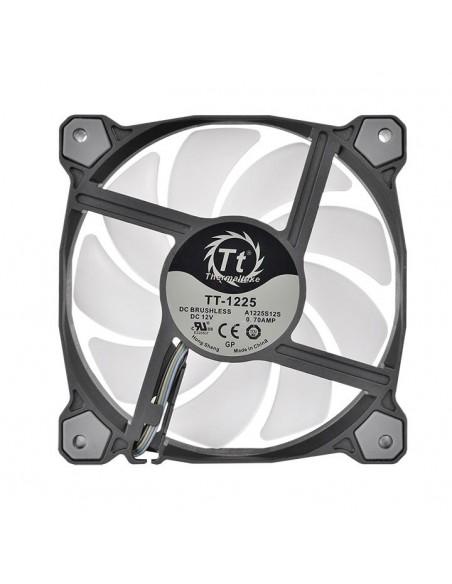 Thermaltake CL-F063-PL12SW-A tietokoneen jäähdytyskomponentti Tietokonekotelo Jäähdytin 12 cm Musta, Valkoinen Thermaltake CL-F0