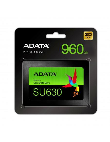 """ADATA Ultimate SU630 2.5"""" 480 GB SATA QLC 3D NAND Adata ASU630SS-480GQ-R - 6"""