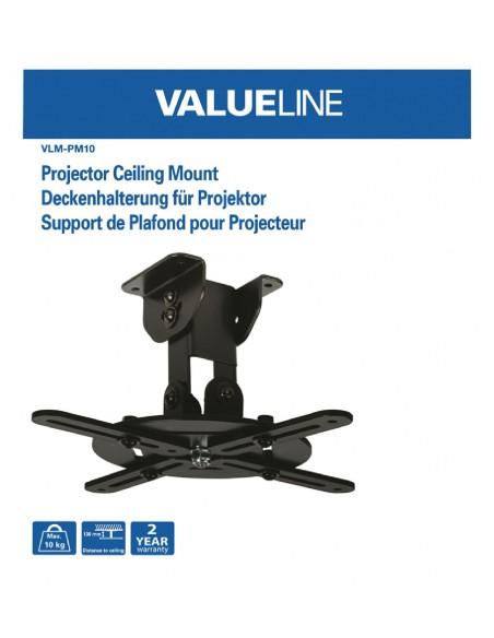 Valueline VLM-PM10 projektorin kiinnike Katto/seinä Musta Valueline VLM-PM10 - 4