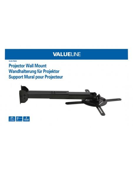 Valueline VLM-PM30 projektorin kiinnike Katto/seinä Musta Valueline VLM-PM30 - 4
