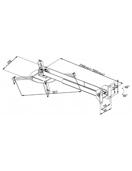 Valueline VLM-PM31 projektorin kiinnike Katto/seinä Hopea Valueline VLM-PM31 - 5