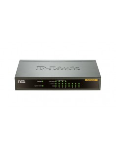 D-Link DES-1008PA network switch Unmanaged Fast Ethernet (10/100) Power over (PoE) Black D-link DES-1008PA - 1