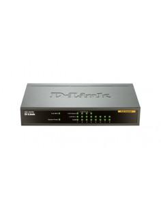 D-Link DES-1008PA verkkokytkin Hallitsematon Fast Ethernet (10/100) Power over -tuki Musta D-link DES-1008PA - 1