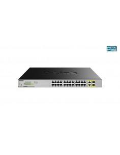 D-Link DGS-1026MP network switch Unmanaged Gigabit Ethernet (10/100/1000) Power over (PoE) Black, Grey D-link DGS-1026MP - 1
