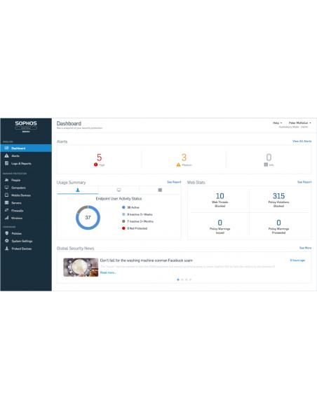 Sophos Central Server Protection Advanced Uusiminen Sophos CSAE2ETAA - 5