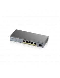 Zyxel GS1350-6HP-EU0101F verkkokytkin Hallittu L2 Gigabit Ethernet (10/100/1000) Harmaa Power over -tuki Zyxel GS1350-6HP-EU0101