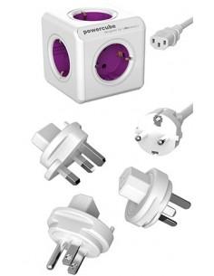 Allocacoc PowerCube ReWirable USB jatkojohto 1 m 4 AC-pistorasia(a) Purppura, Valkoinen Allocacoc 1811/DERU3P - 1