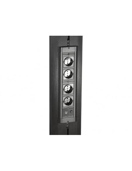 Multibrackets M Public Display Stand Pillar 70 Silver, incl. 220V Power Rail Multibrackets 7350073730674 - 3
