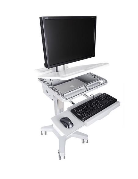 Multibrackets 0773 multimedialaitteiden kärry ja teline Hopea, Valkoinen PC Multimediakärry Multibrackets 7350073730773 - 2