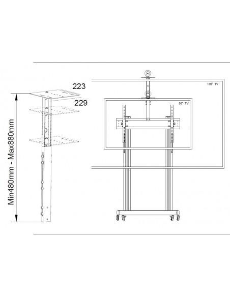 Multibrackets 4849 monitorikiinnikkeen lisävaruste Multibrackets 7350073734849 - 2