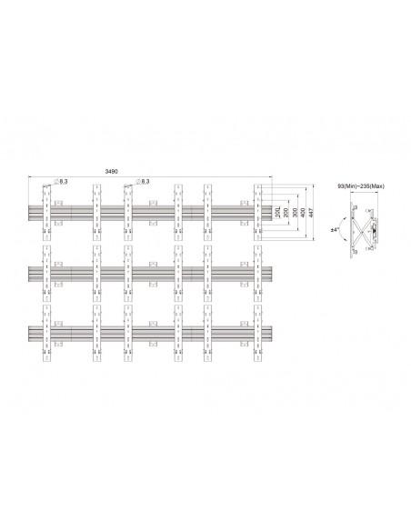 """Multibrackets 5013 kyltin näyttökiinnike 165.1 cm (65"""") Musta Multibrackets 7350073735013 - 11"""