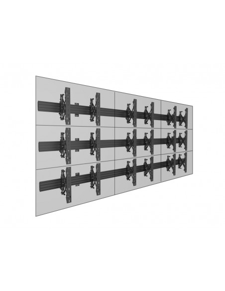 Multibrackets M Wallmount Pro MBW3x3U Push In Pop Out Black Multibrackets 7350073735013 - 12