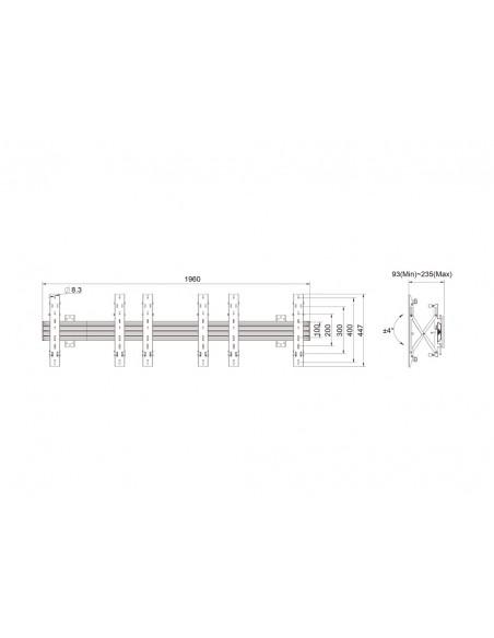 """Multibrackets 5037 fäste för skyltningsskärm 139.7 cm (55"""") Svart Multibrackets 7350073735037 - 11"""