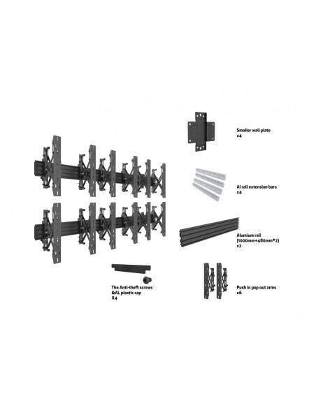 """Multibrackets 5044 fäste för skyltningsskärm 139.7 cm (55"""") Svart Multibrackets 7350073735044 - 7"""