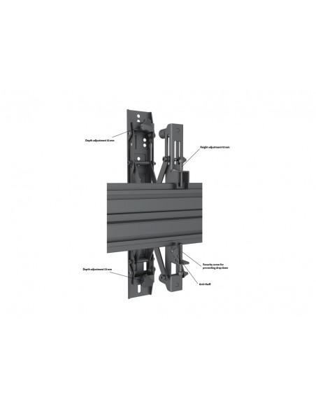 Multibrackets M Wallmount Pro MBW3x2UP Push In Pop Out Black Multibrackets 7350073735044 - 9