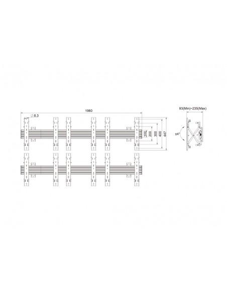 """Multibrackets 5044 kyltin näyttökiinnike 139.7 cm (55"""") Musta Multibrackets 7350073735044 - 11"""