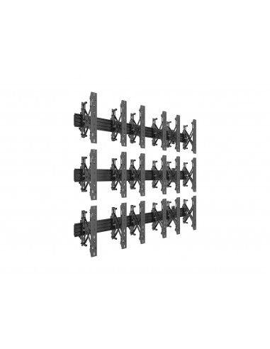 Multibrackets M Wallmount Pro MBW3x3UP Push In Pop Out Black Multibrackets 7350073735051 - 1