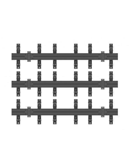 """Multibrackets 5051 kyltin näyttökiinnike 139.7 cm (55"""") Musta Multibrackets 7350073735051 - 4"""