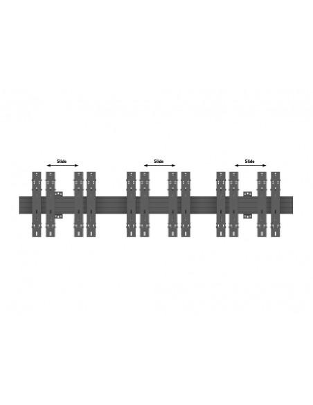 """Multibrackets 5051 kyltin näyttökiinnike 139.7 cm (55"""") Musta Multibrackets 7350073735051 - 8"""