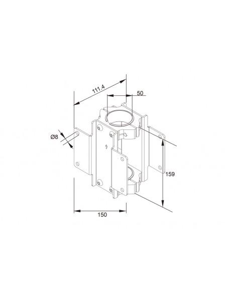 Multibrackets M Pro Series - Dual Pole Clamp Multibrackets 7350073735068 - 3